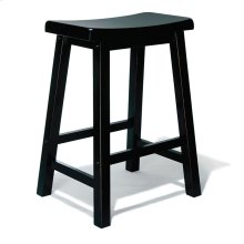 """Antique Black"" with Sand Through Terra Cotta Counter Stool, 24"" Seat Height"
