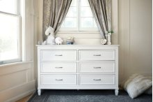 Warm White Darlington 6-Drawer Dresser