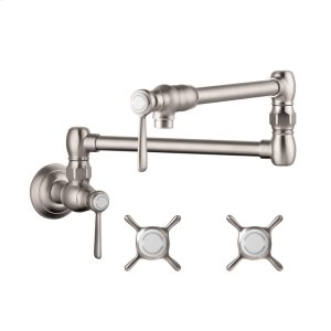 Steel Optic Pot Filler, Wall-Mounted Product Image