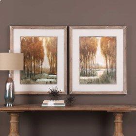 Custom Golden Forest Framed Prints,