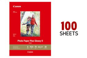 Canon Photo Paper Plus Glossy II 8.5x11 - 100 Sheets