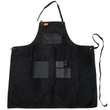 Apron - Black Canvas & Leather XL