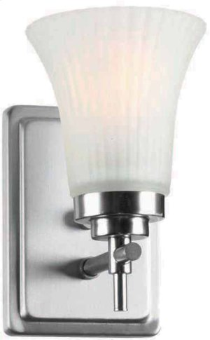 1-lite Wall Sconce, Ss W/frost Glass Shade, E27 Type A 60w