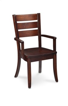 Lakewood Arm Chair, Leather Cushion Seat