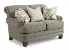 Bay Bridge Fabric Loveseat with Nailhead Trim
