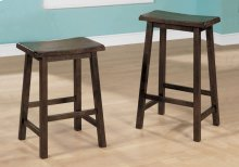 "BARSTOOL - 2PCS / 24""H / WALNUT SADDLE SEAT"