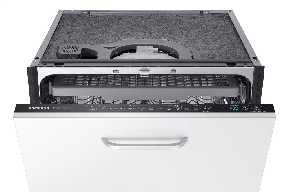 Samsung Hidden Touch Control Panel Ready Chef Collection Dishwasher With Waterwall Technology