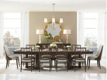 Crestaire-Lola Double Pedestal Table in Porter