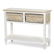 2-Basket Console Table