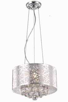2078 Prism Collection Hanging Fixture Chrome Finish (Royal Cut Crystals)