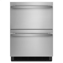 "NOIR 24"" Double-Refrigerator Drawers"