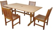 """40""""x72"""" Trestle Folding Table with Curved Slatted Back Side Chair Product Image"""