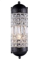1205 Olivia Collection Wall Sconce W:5in H:15in Ext: 7in Lt:1 Dark Bronze Finish Royal Cut Crystal (Clear) Product Image