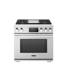 36-inch Gas Pro Range with 4 Burners and Griddle