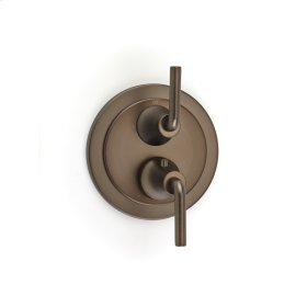 Dual Control Thermostatic with Diverter and Volume Control Valve Trim Taos (series 17) Bronze