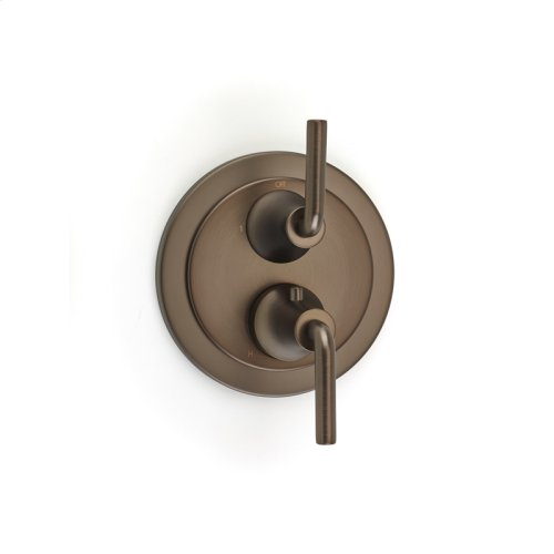 Dual Control Thermostatic With Diverter and Volume Control Valve Trim Taos Series 17 Bronze