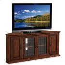"""Oak Leaded Glass 56"""" TV Stand #80386 Product Image"""