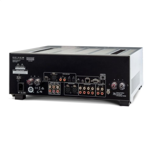 Stereo integrated amplifier with 200W/400W/550W into 8/4/2 ohms. Leading-edge DAC, Anthem Room...