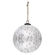 "8"" Classic White Ball Ornament"