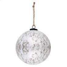 "8"" Classic White Ball Ornament"