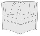 Germain Corner Chair in Mocha (751) Product Image