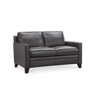 Leather Italia Usa6287b Fletcher Loveseat 1128a Charcoal