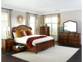 Luciano Queen Panel Bed with 3 Drawer Storage