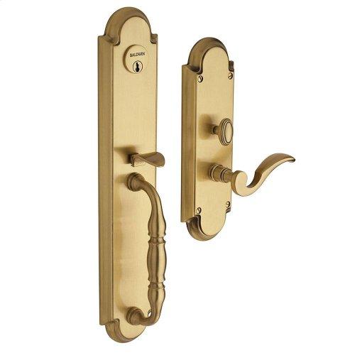 Satin Brass and Brown Hamilton Entrance Set