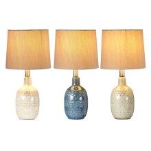 3 pc. ppk. Translucent Glaze Accent Lamp. 40W Max. (3 pc. ppk.)