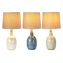 3 pc. ppk. Translucent Glaze Accent Lamp. 40W Max. (3 pc. ppk.)
