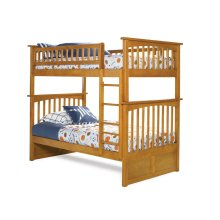 Columbia Bunk Bed Twin over Twin in Caramel Latte