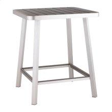 Megapolis Bar Table Brushed Aluminum