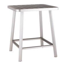 Megapolis Bar Table Brushed Aluminum Product Image