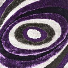 Winnipeg 5' X 7' Gray & Purple Area Rug