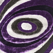 Winnipeg 5' X 7' Gray & Purple Area Rug