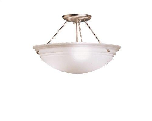 Cove Molding Top Glass Collection Cove Molding 3 Bulb Semi Flush Ceiling Light TZ