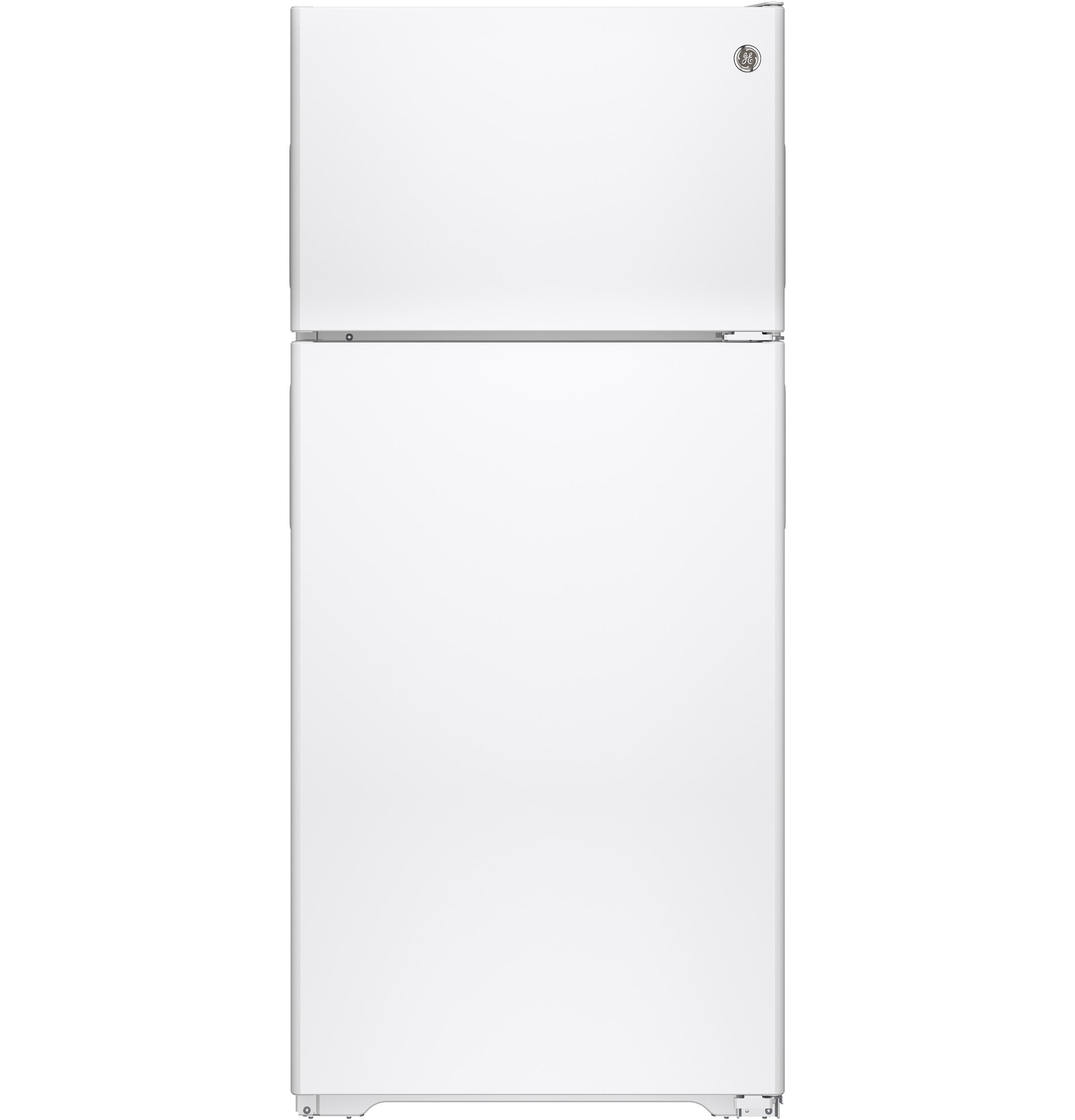 GEEnergy Star® 15.5 Cu. Ft. Recessed Handle Top-Freezer Refrigerator