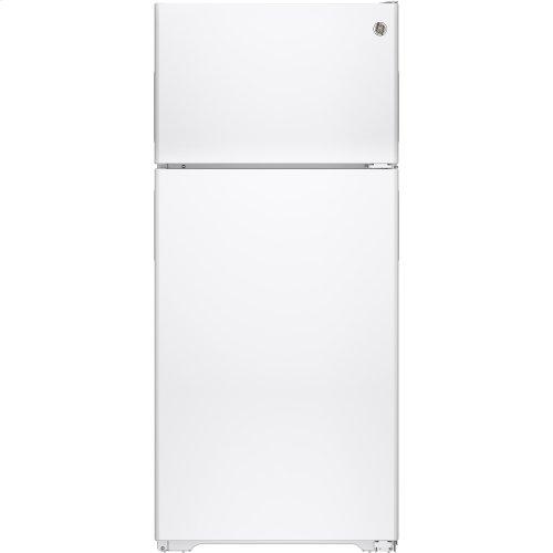 GE® ENERGY STAR® 15.5 Cu. Ft. Recessed Handle Top-Freezer Refrigerator