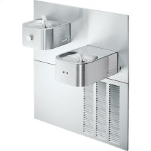 Elkay Soft Sides Fountain Bi-Level ADA Hands-Free Non-Filtered, 8 GPH Stainless