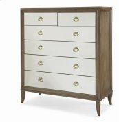 Tall Drawer Chest With Mirrored Drawer Fronts
