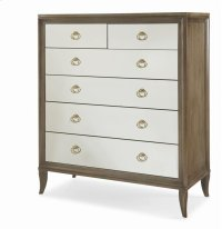 Tall Drawer Chest With Mirrored Drawer Fronts Product Image