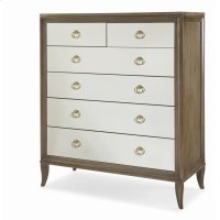 Tribeca Tall Drawer Chest With Mirrored Drawers Product Image