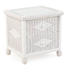 Wicker 2 Drawer Nightstand Cotton 3702