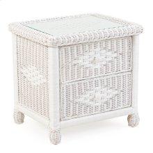 Wicker 2 Drawer Nightstand Cotton 3702