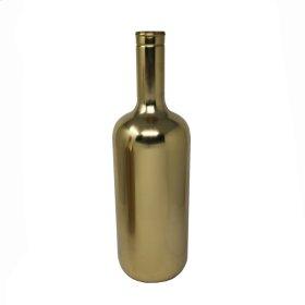"""18.5"""" Metal Vase, Gold"""