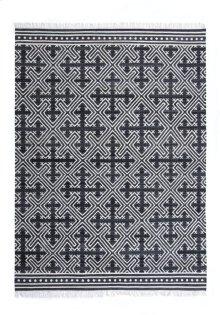 9'x12' Size Handwoven Geometric Cross Rug