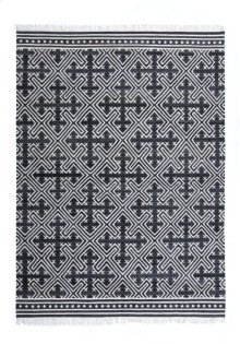 9'x12' Size Handwoven Geometric Cross Rug