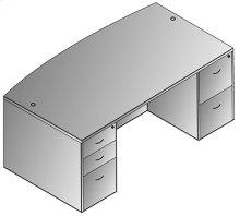"""Napa Bow Top Desk 71""""x41"""""""