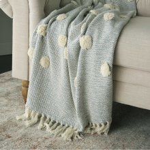"Throw Sh019 Blue 50"" X 60"" Throw Blanket"