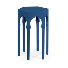 Hexagon Lamp Table (Patriot Blue)